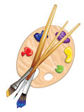 Brushes and Palette Stock Photos