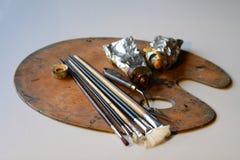brushes paletten Royaltyfria Bilder