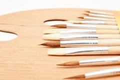 brushes paletten arkivfoton
