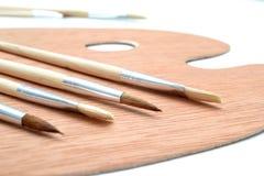 brushes paletten royaltyfri bild
