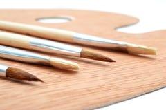 brushes paletten royaltyfri fotografi