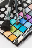 Brushes and pallets for make-up Stock Photography