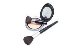 Brushes and powder Royalty Free Stock Image