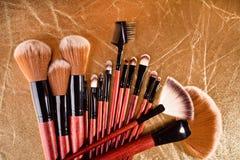 brushes professional skönhetsmedel Fotografering för Bildbyråer