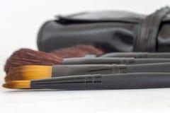Brushes set for make up artist. Or regular women Royalty Free Stock Photo