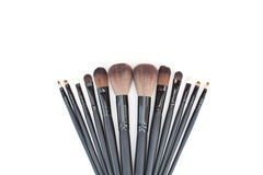 Brushes set for professional makeup artist Royalty Free Stock Images