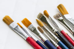 Brushes. Several and different size brushes Stock Photography