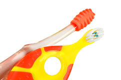 Brushes for small children Royalty Free Stock Image