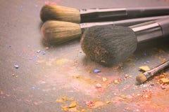 brushes smink Arkivfoton