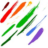 Brushes smudge Royalty Free Stock Photos