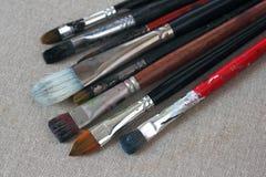 brushes smutsig kanfas Fotografering för Bildbyråer