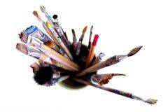 brushes smutsigt Royaltyfri Fotografi