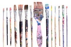 brushes smutsigt Arkivfoton