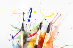 Brushes and spray Stock Photos