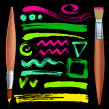 Brushes and strokes Stock Photography