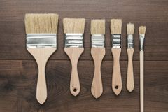 Brushes on the table Stock Image