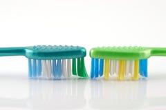 brushes tand två Royaltyfria Bilder