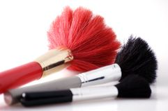 Brushes to make-up Royalty Free Stock Image