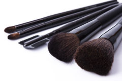 Brushes to make-up on white background Stock Photography