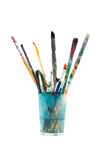 Brushes used in crystal glass Royalty Free Stock Photography