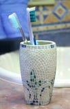 Brushes in vase Stock Photos