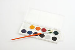 Brushes and water paints Royalty Free Stock Images