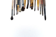 Brushes on a white font Stock Photo