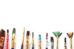 Brushes with white space Royalty Free Stock Photography