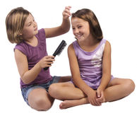 Brushing hair Royalty Free Stock Images