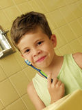 Brushing kid. Stock Photos