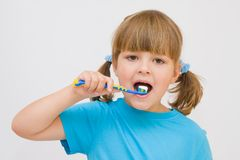 Brushing  my teeth Royalty Free Stock Image