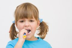 Brushing  my teeth Royalty Free Stock Photos