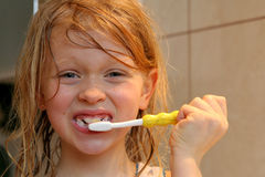 Brushing my teeth Stock Photos