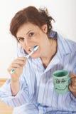 Brushing my teeth Royalty Free Stock Photography