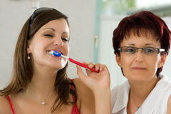 Brushing teeth Royalty Free Stock Photography