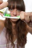 Brushing teeth Stock Images