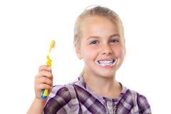 Brushing teeth royalty free stock photography