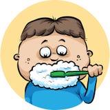brushing teeth Arkivbilder