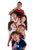 Brushing teeth. A group of children brushing thier teeth Stock Photography