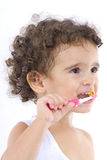 Brushing the Teeth Stock Images