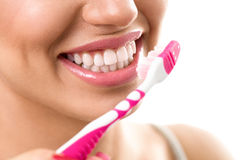 Brushing teeth, dental hygiene Stock Photo