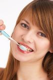 Brushing teeth I Royalty Free Stock Photo