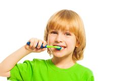 Brushing teeth is important Stock Images