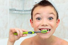 Brushing teeth Stock Photography