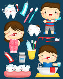 Brushing Teeth Royalty Free Stock Images