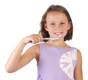 Brushing teething Stock Image
