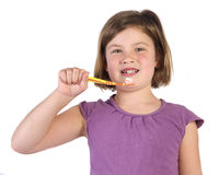 Brushing teething Royalty Free Stock Photo