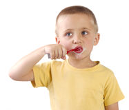 Brushing teething Royalty Free Stock Photos