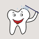Brushing tooth Stock Photography