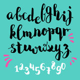 Brushpen style  alphabet calligraphy Stock Photo